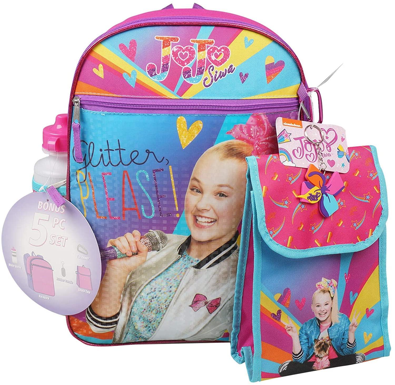 Girls 5 Piece Jojo Siwa Backpack Set