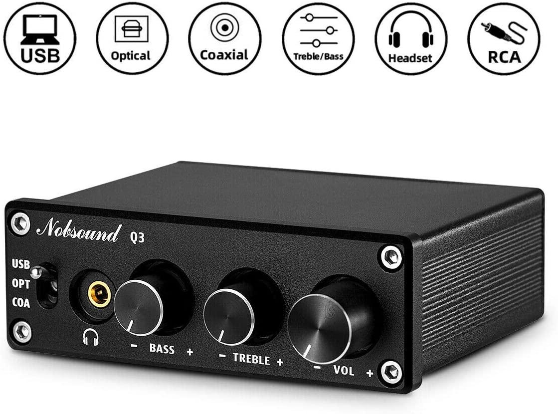 Douk Audio Q3 DAC Digital to Analog Converter Decoder USB/Coax/Opt Headphone Amp