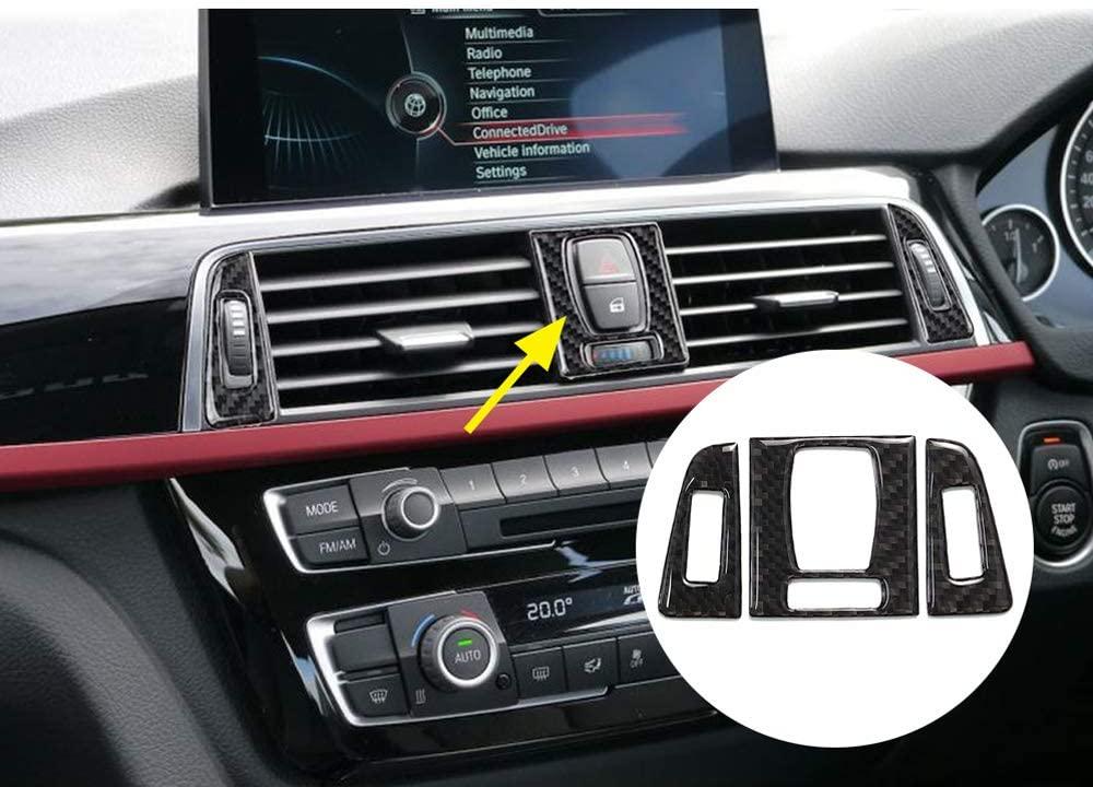 Luocky Carbon Fiber Style Car Interior Center Control Air Vent Outlet Panel Cover Trim Sticker for BMW 3 4 Series F30 F32 2013 2014 2015 2016 2017 2018 Car Interior Accessories
