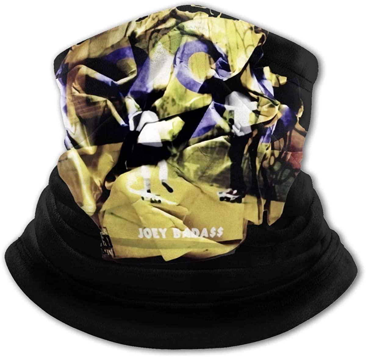 Joey Badass Face Mask Bandanas,Neck Gaiter,Headwear,Magic Scarf,Headband for Dust Sun Wind,Reusable Bandana Face Cover Black