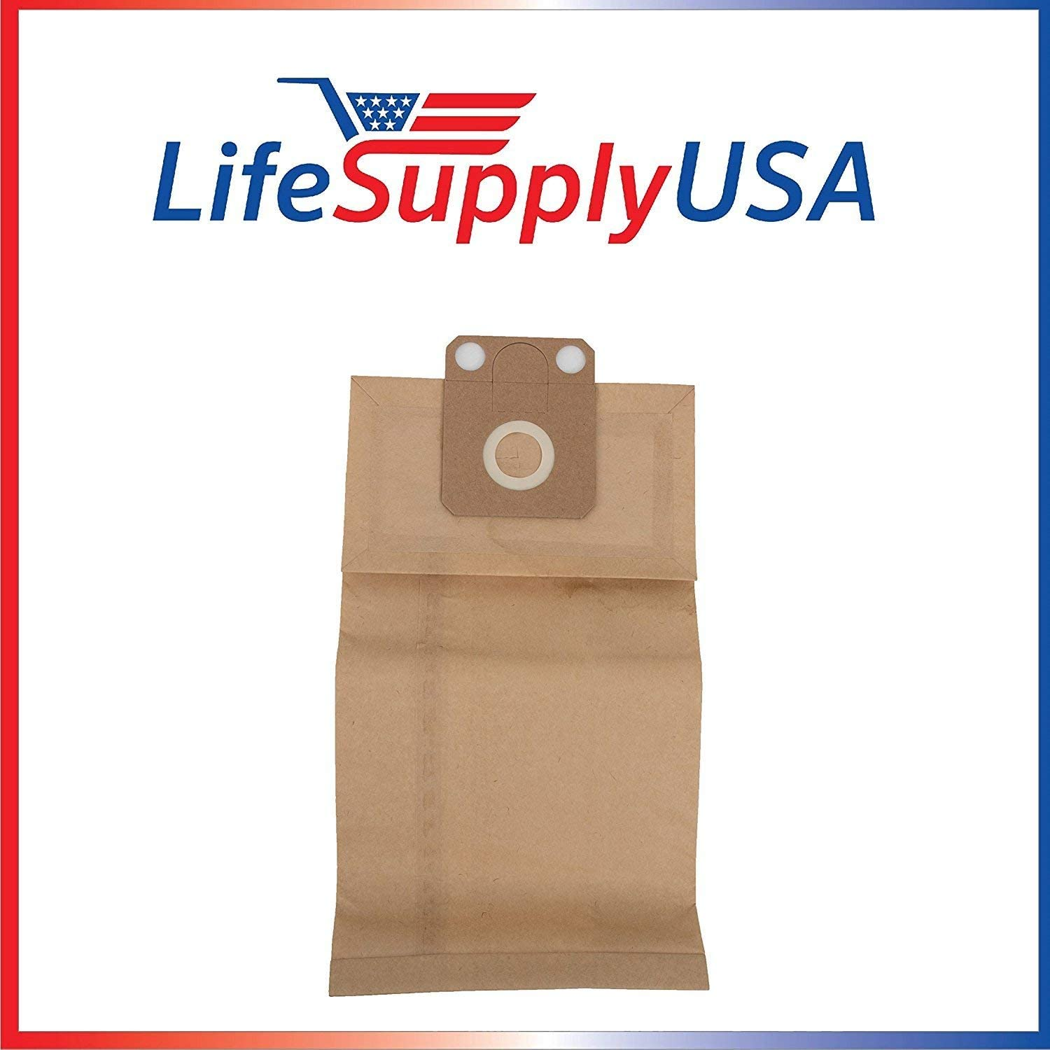 LifeSupplyUSA 5 Packs of 5 (25 count) Replacement Vacuum Paper Bags Compatible with Nilfisk Family CDF Business Commercial CDB Vacs GD1000 Series, Part 82222900