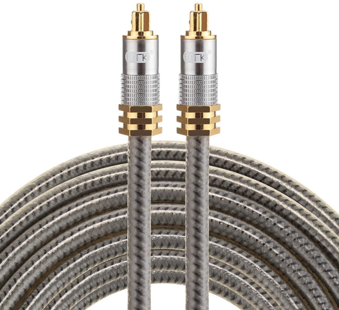 Optical Cables Great YL-A 5m OD8.0mm Gold Plated Metal Head Toslink Male to Male Digital Optical Audio Cable
