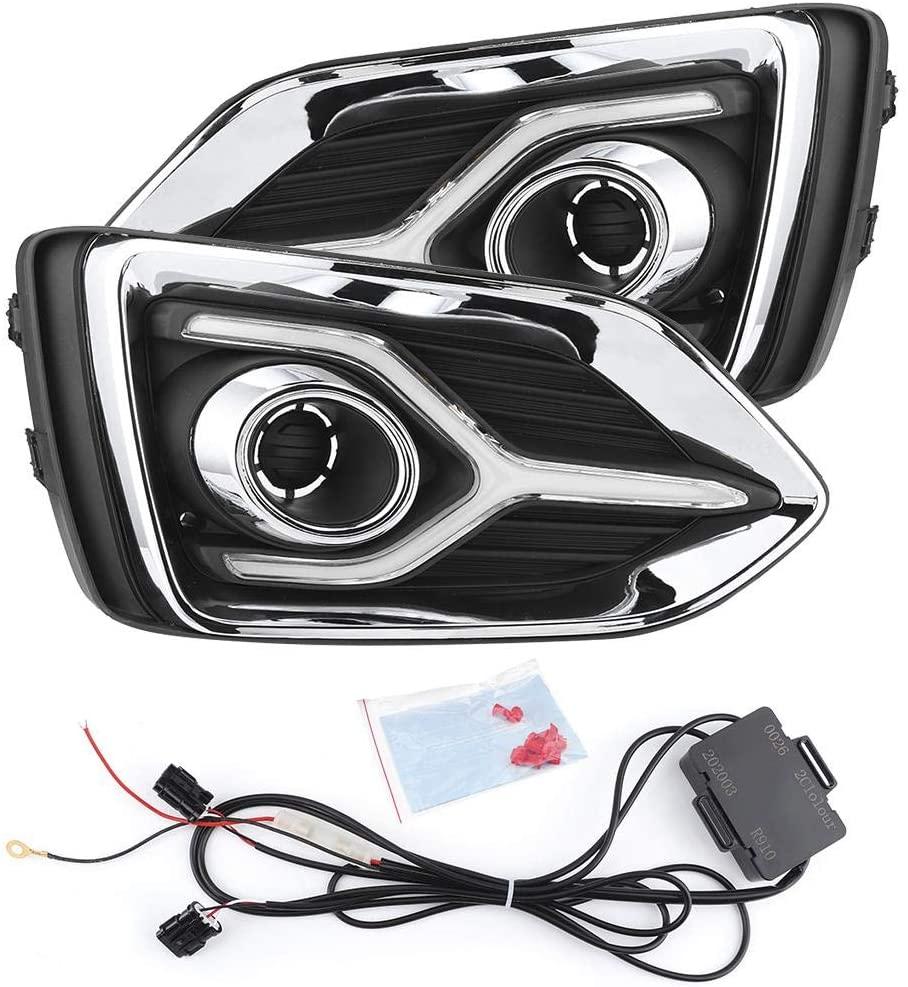 Daytime Running Light, Car LED DRL Daytime Running Light High Brightness Daytime Running Lamp Fit for Accent 2017-2019