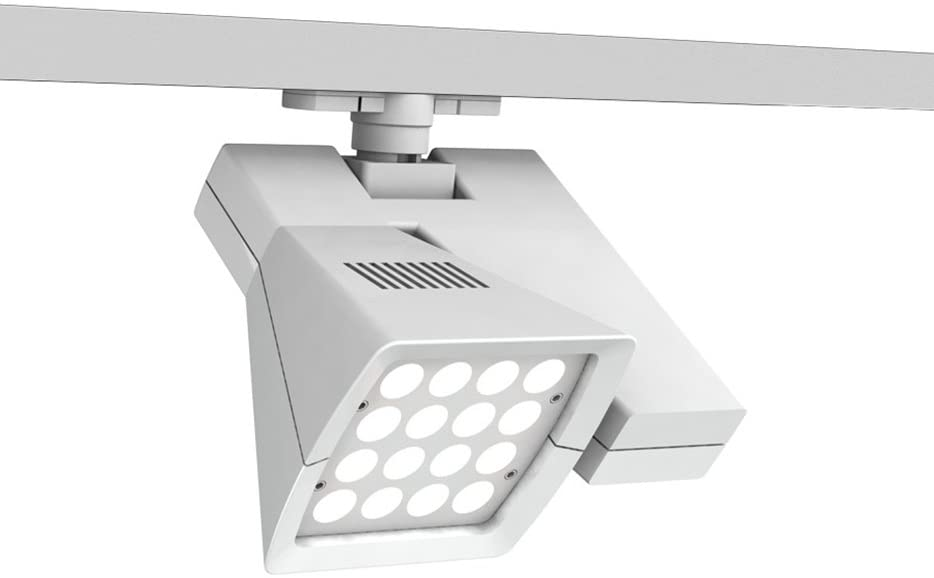 WAC Lighting WTK-LED40F-40-WT 40W Logos LEDme Track Head for 120V W Track, 36-Degree, 4000K