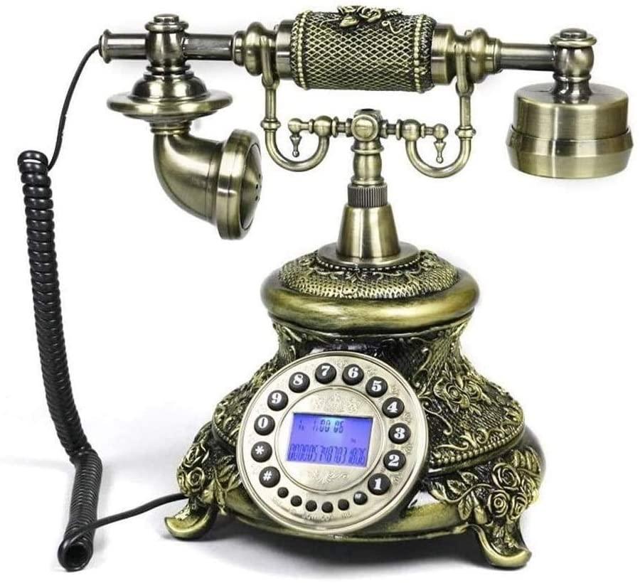 Retro Telephone,European Antique Vintage Telephone Wired Corded Telephone Landline Home/Hotel/Office/Coffee Shops Decor