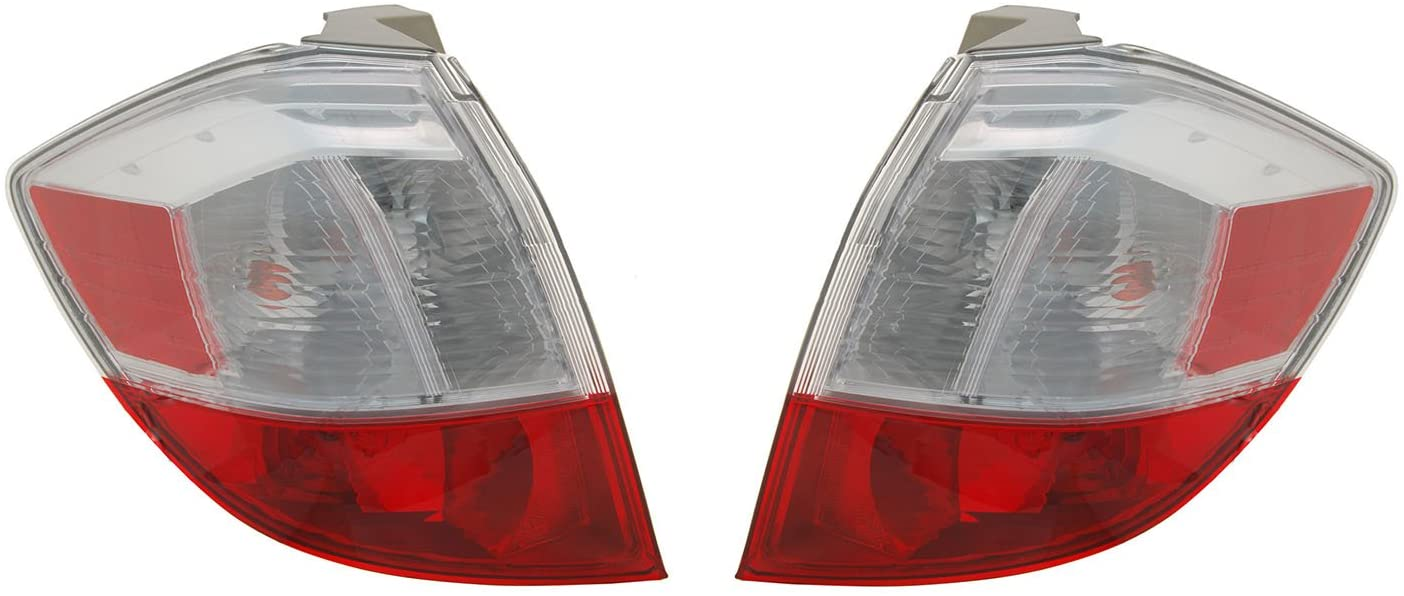 Rareelectrical NEW TAIL LIGHT PAIR COMPATIBLE WITH HONDA 2009-2014 HO2801176 33500-TK6-A01 HO2800176 33550-TK6-A01 33550TK6A01