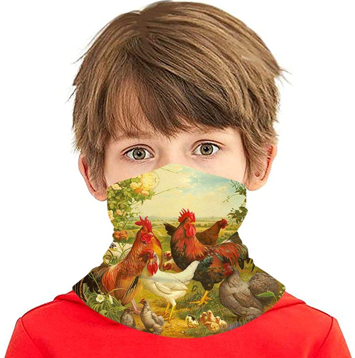 Face Covering For Youth Seamless Scarf Perferct For Outdoor Activities Christmas Old Man Santa