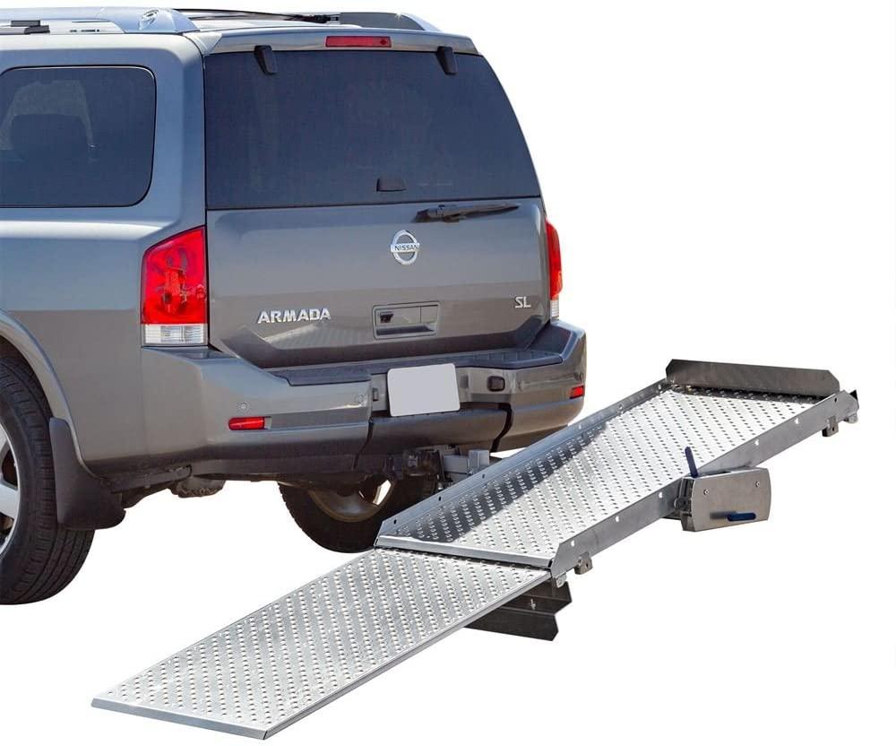 Tilt-A-Rack Premium Aluminum Scooter and Wheelchair Carrier, 350 lb. Weight Capacity, Platform Measures 52