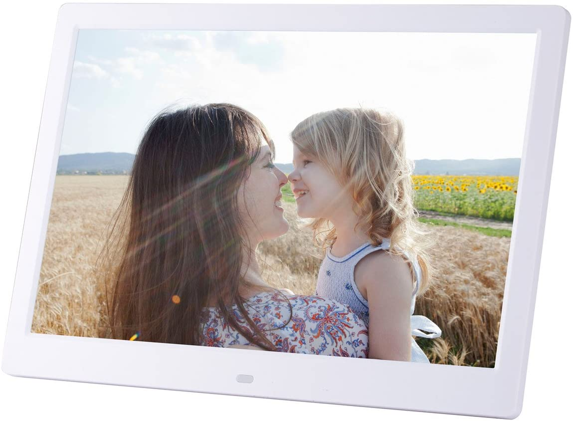 Digital Photo Frame LED Display Hi-Res Digital Photo & HD Video Frame with Mini HDMI Port Playback Infrared Remote Control