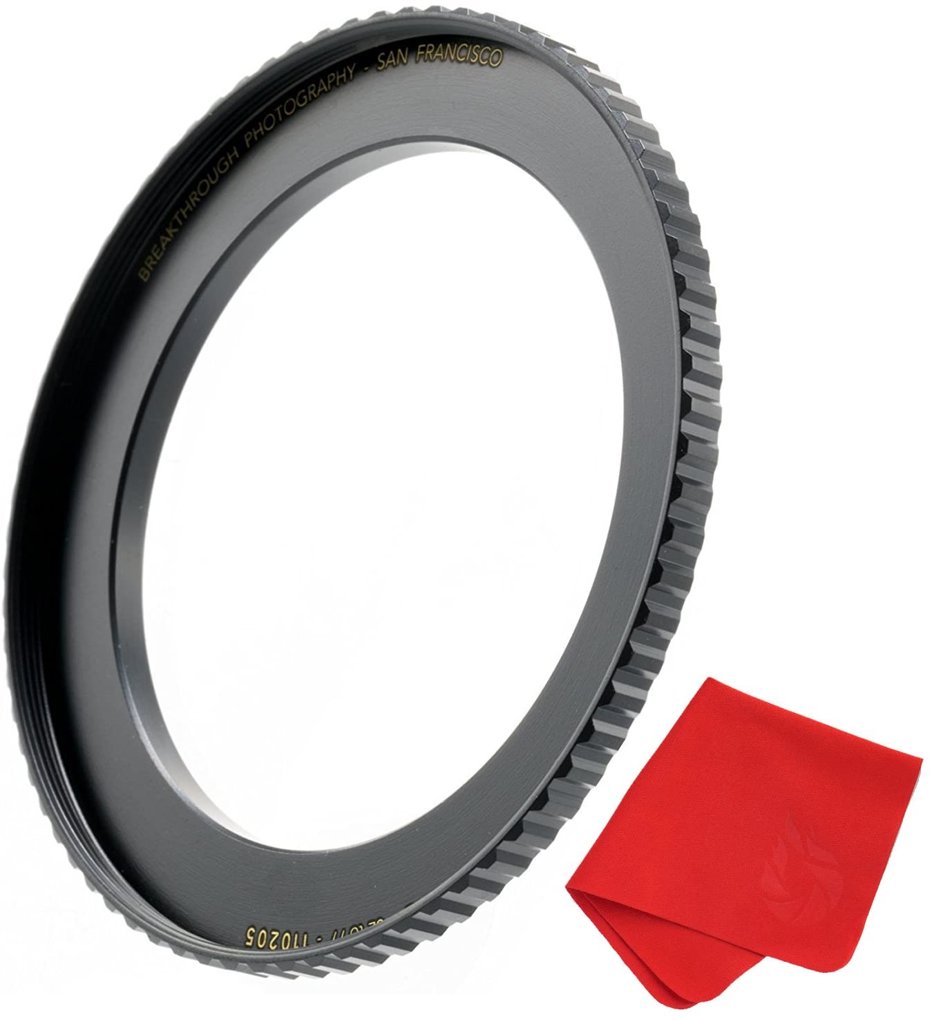 Breakthrough Photography 58mm to 67mm Step-Up Lens Adapter Ring for Filters, Made of CNC Machined Brass with Matte Black Electroplated Finish
