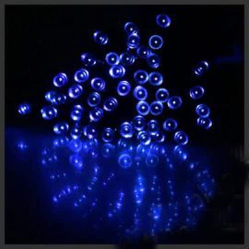 100LED Solar blue Powered Fairy Light String Christmas Decor powered by solar energy blue