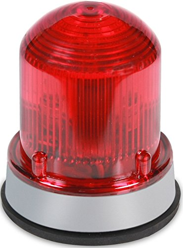 Edwards Signaling 125XBRMR120A XTRA-BRITE LED Multi-Mode Beacon, Steady-On/Flashing, 120V AC, Gray Base, Red