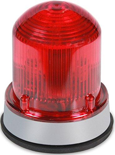 Edwards Signaling 125XBRMR24D XTRA-BRITE LED Multi-Mode Beacon, Steady-On/Flashing, 24V DC, Gray Base, Red