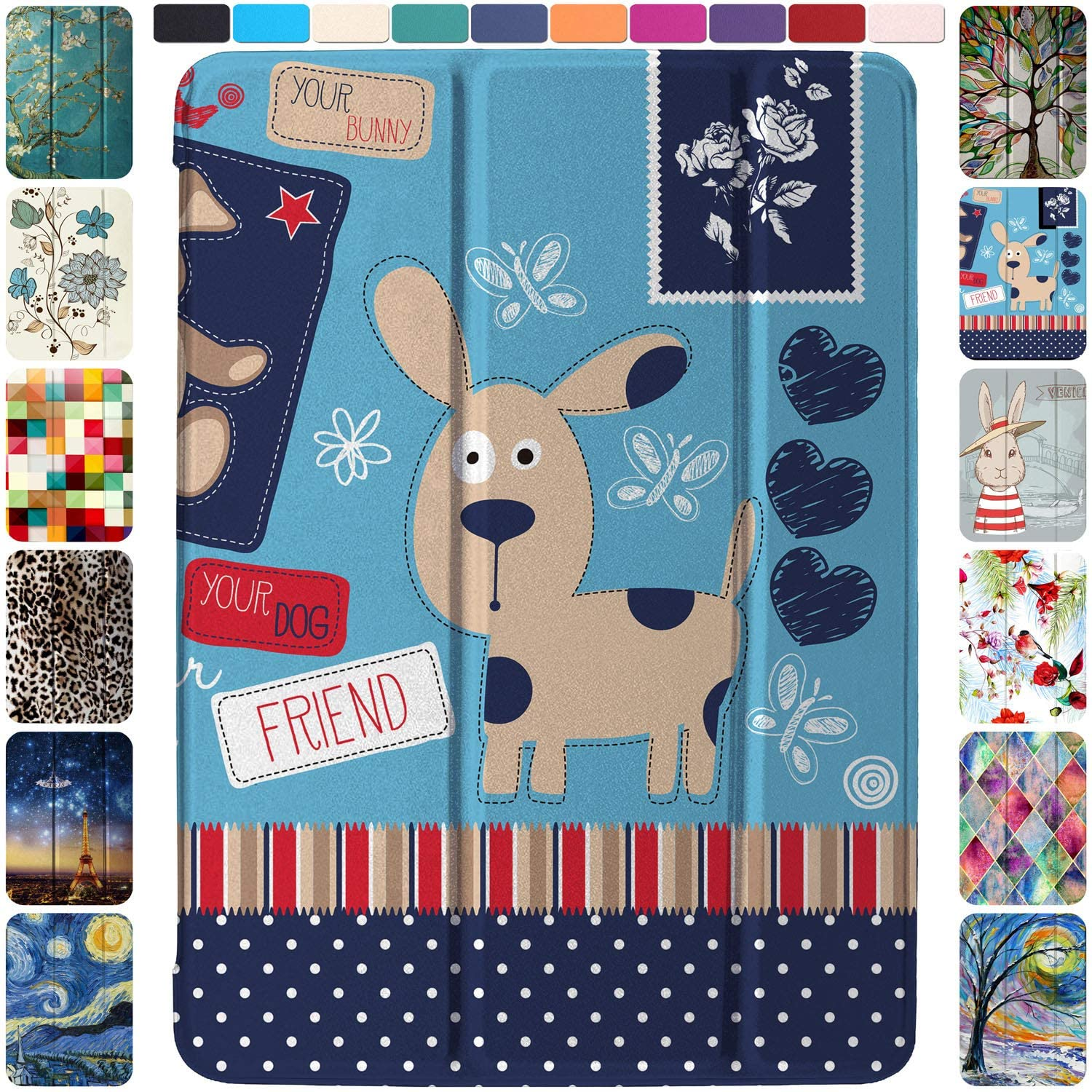 DuraSafe Cases for iPad Mini 1st Gen/Mini 2nd Gen/Mini 3rd Gen - 7.9 MGNV2LL/A MGYE2LL/A MGNR2LL/A ME276LL/A Ultra Slim Supportive Classic Case with Adjustable Stand Feature - Puppy Friend