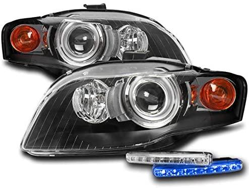 ZMAUTOPARTS Projector Black Headlights Headlamps w/6