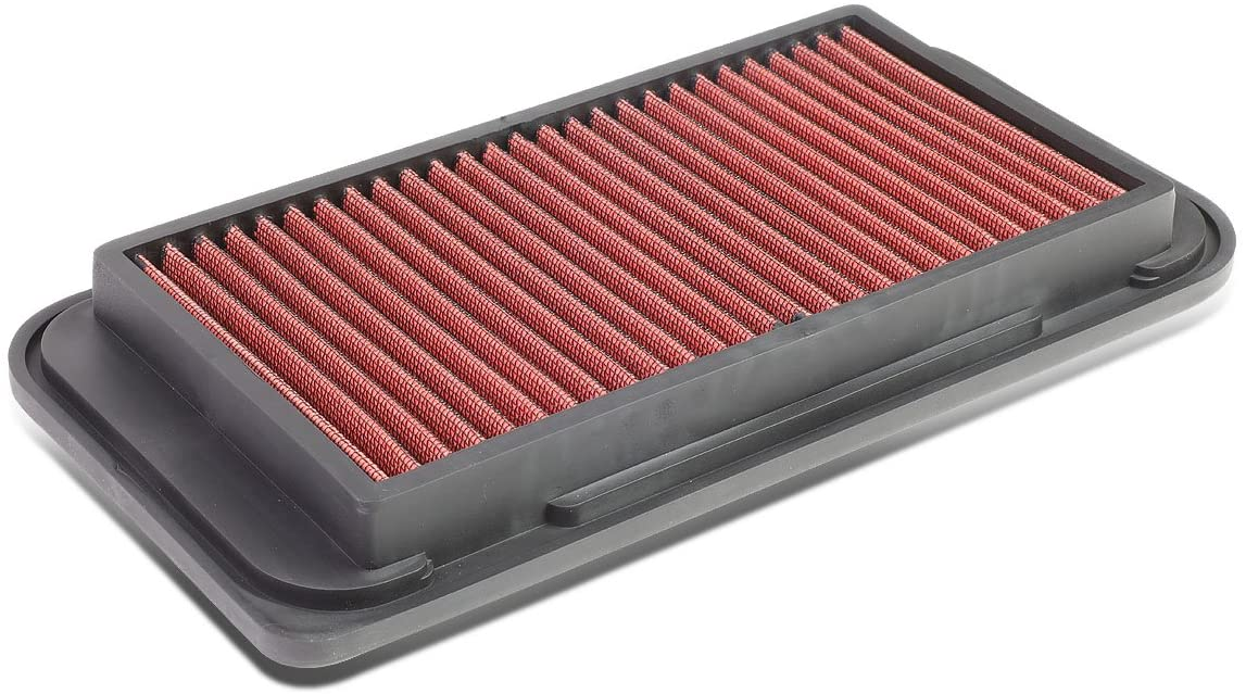 Replacement for Corolla/Matrix Reusable & Washable Replacement High Flow Drop-in Air Filter (Red)