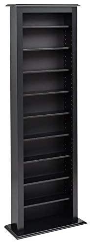Prepac Slim Barrister Tower Storage Cabinet, Black