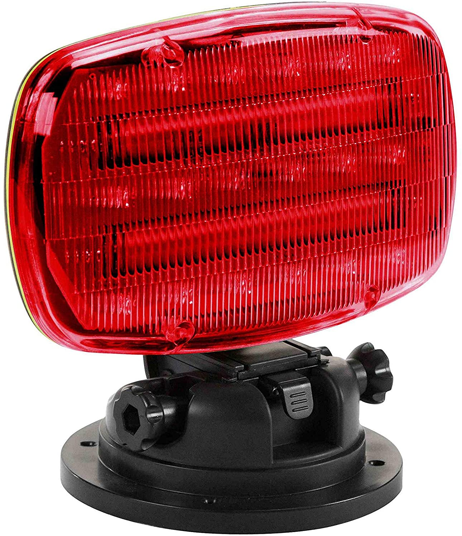 LED Strobe Light (Battery Powered) with Adjustable Locking Magnetic Base - RED Lens - SL-ALM-R