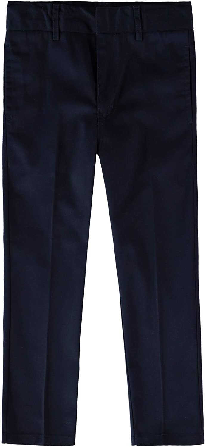 Educated Uniforms Boys Flat Front Double Knee Adjustable Waist School Pant