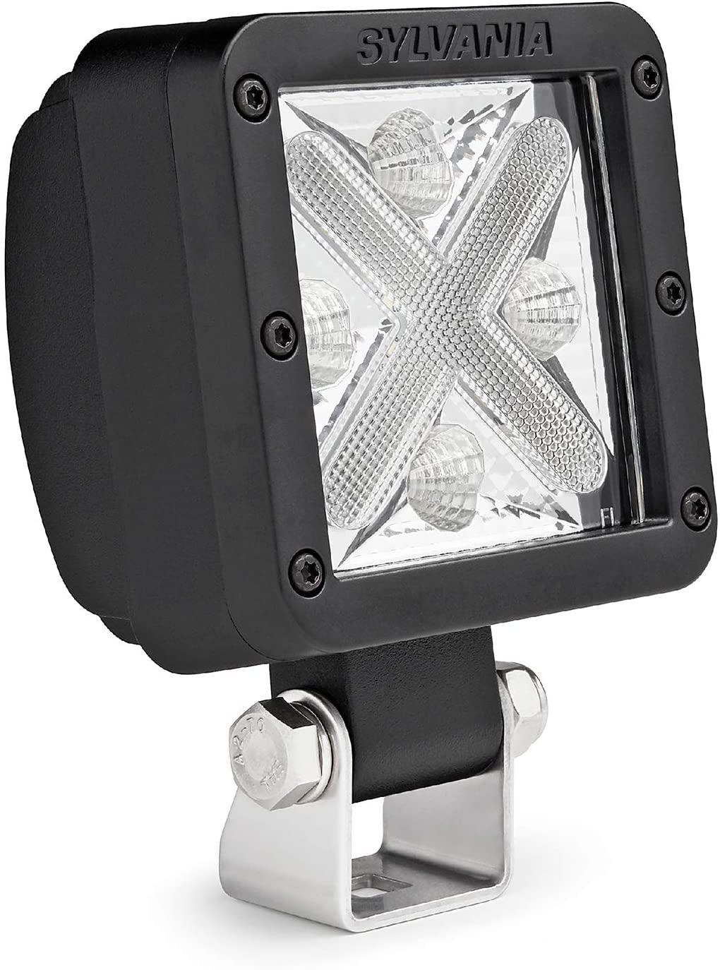 SYLVANIA - LED Pod 3 Inch Cube Light - Lifetime Limited Warranty - Dual Mode Accent plus Wide Flood Light 1800 Raw Lumens Best Off Road Driving Work Light, Truck, Boat, ATV, UTV, SUV (1 PC)