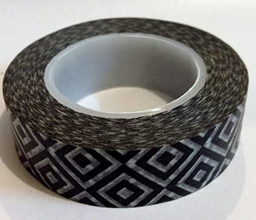 Black Diamond Japanese Washi Tape - *15mm x 15M* - TWILIGHT PARTIES