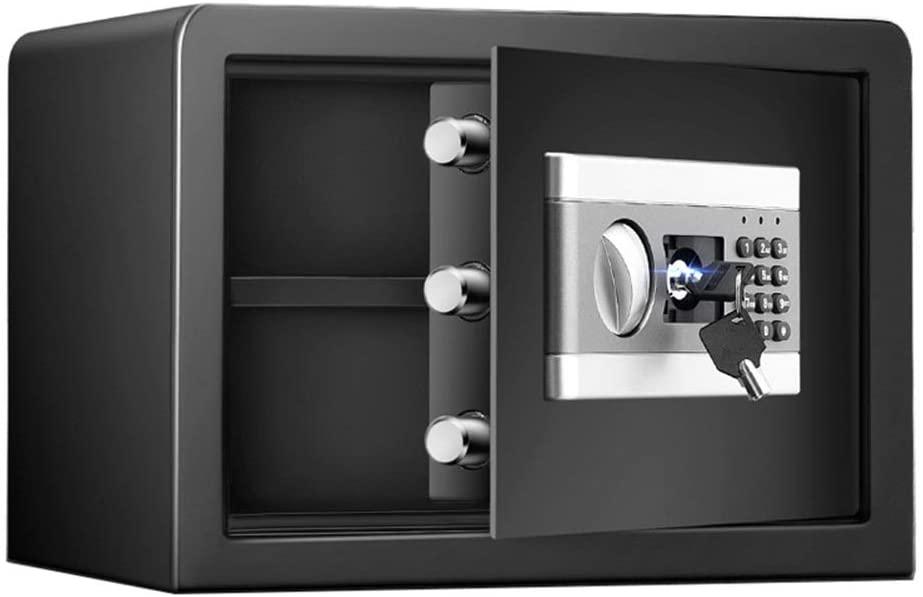 PUEEPDEE Safe Box Electronic Deluxe Digital Security Safe Box Keypad Lock Home Office Hotel Business Jewelry Safe Box for Money (Color : Black, Size : 35x25x25cm)