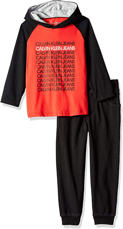 Calvin Klein Boys' 2 Pieces Jog Set-Long Sleeve Top