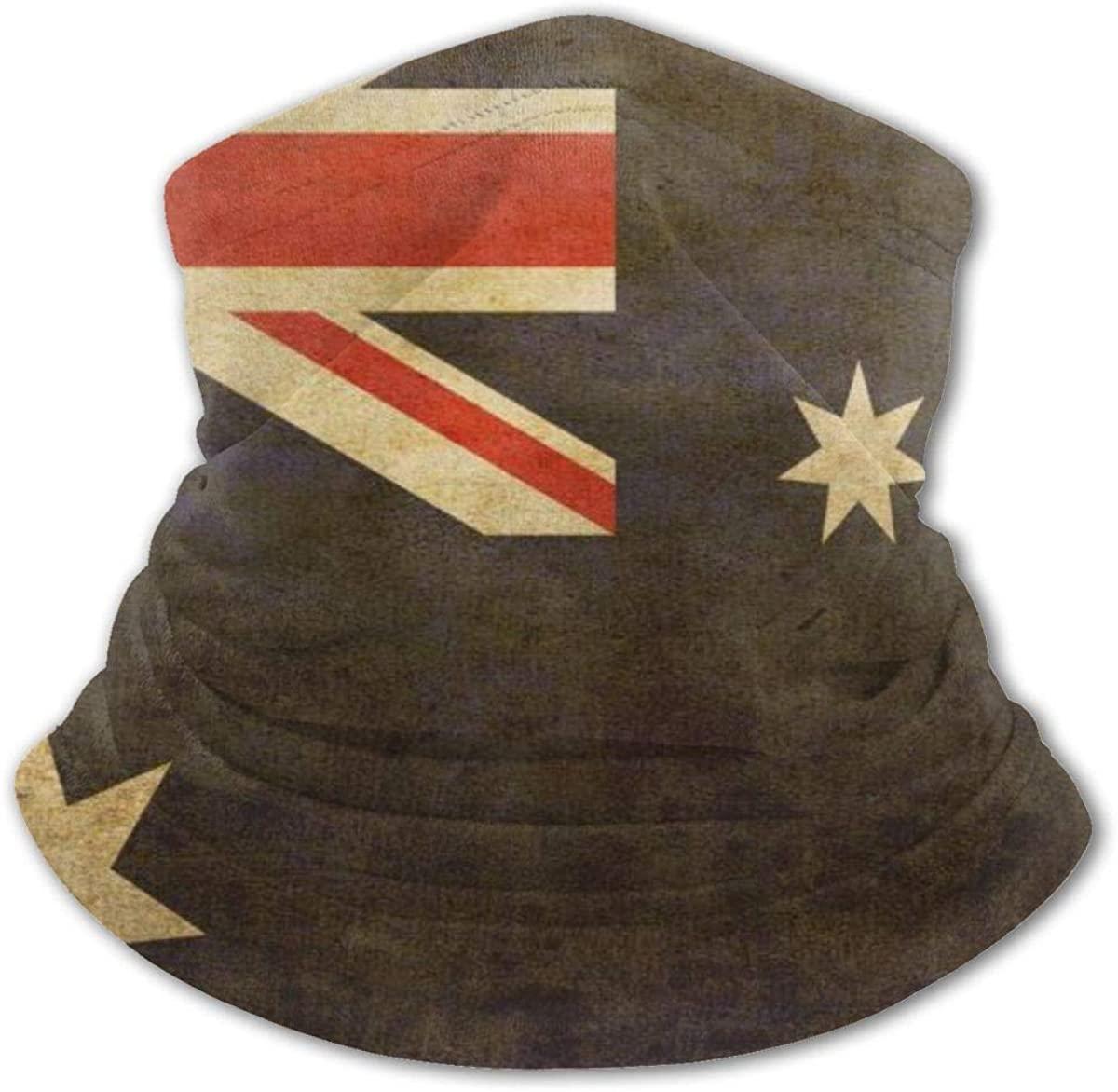 Australian Flag Headwear For Girls And Boys, Head Wrap, Neck Gaiter, Headband, Tenn Fishing Mask, Magic Scarf, Tube Mask, Face Bandana Mask For Camping Running Cycling