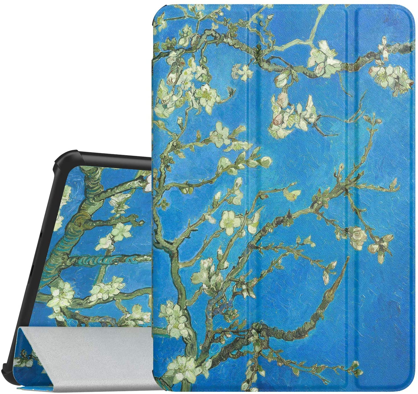 MoKo Case for Samsung Galaxy Tab S4 10.5, Ultra Lightweight Slim-Shell Stand Cover Case with Auto Wake/Sleep Function for Galaxy Tab S4 10.5 Inch (SM-T830 Wi-Fi/SM-T835 4G LTE) Tablet,Almond Blossom