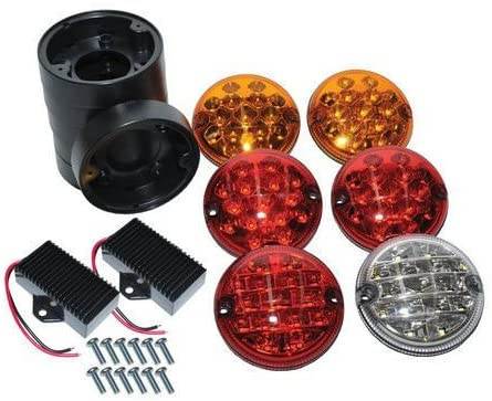 BRITPART NAS STYLE LED UPGRADE REAR LAMPS KIT OEM WIPAC BRAND COMPATIBLE WITH LAND ROVER DEFENDER, PART # DA1143