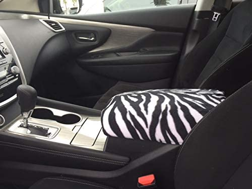 Nissan Armada 2014-2015 SUV Trucks Auto Center Console Armrest Cover Protects from Dirt and Damage Renews Old Damaged Consoles-Zebra Print