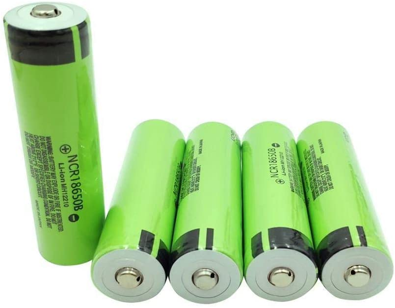 4pcs ncr18650b 3.7v 3400mah li-ion Battery 18650 Rechargeable Battery (top of Button)
