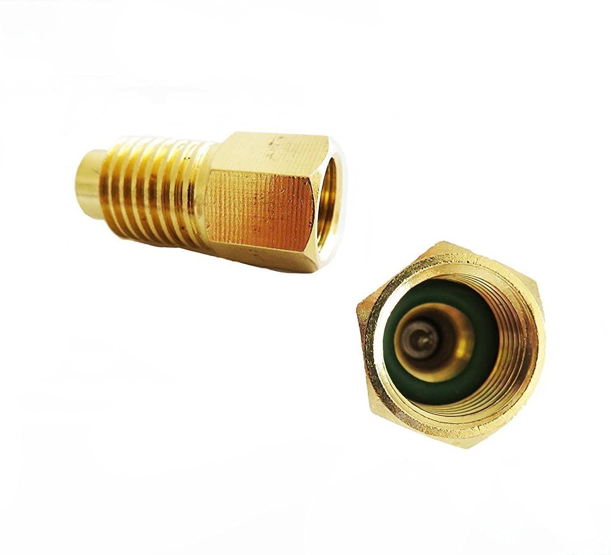 Aquiver Auto Parts New R134A Adapters Refrigerant Tank/Vacuum Pump 1/4
