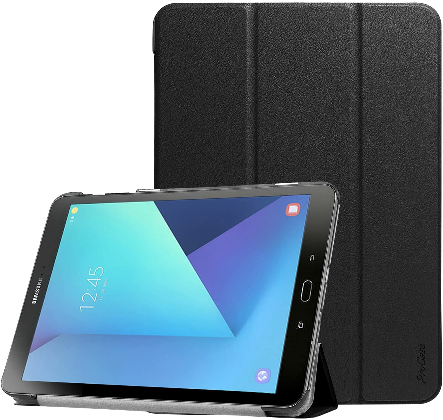 ProCase Galaxy Tab S3 9.7 Case, Slim Light Smart Cover Stand Hard Shell Case for Galaxy Tab S3 9.7-Inch Tablet SM-T820 T825 T827 (Black)