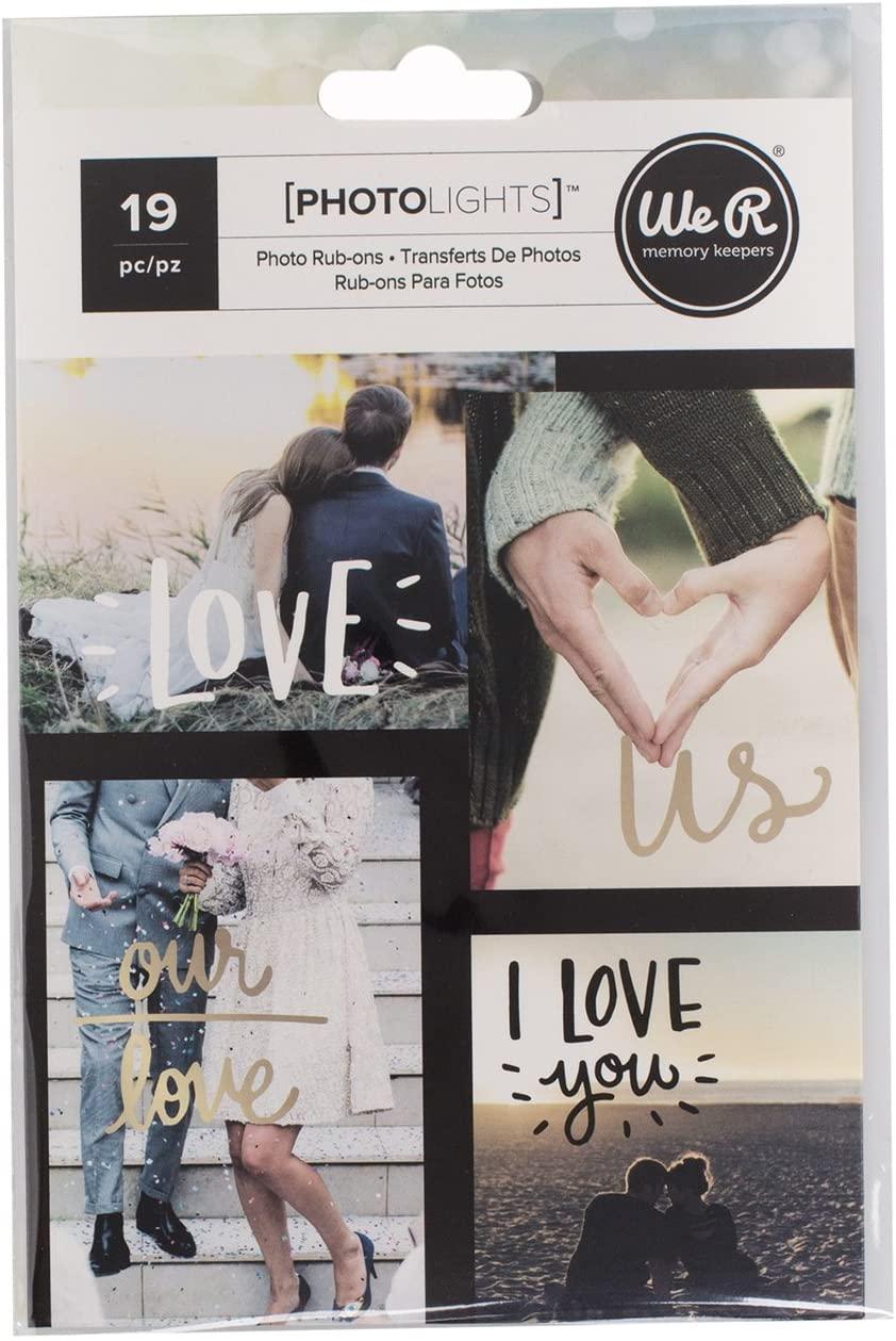We R Memory Keepers 0633356630210 Light Storage & Decor-Photo Rub-Ons-Love