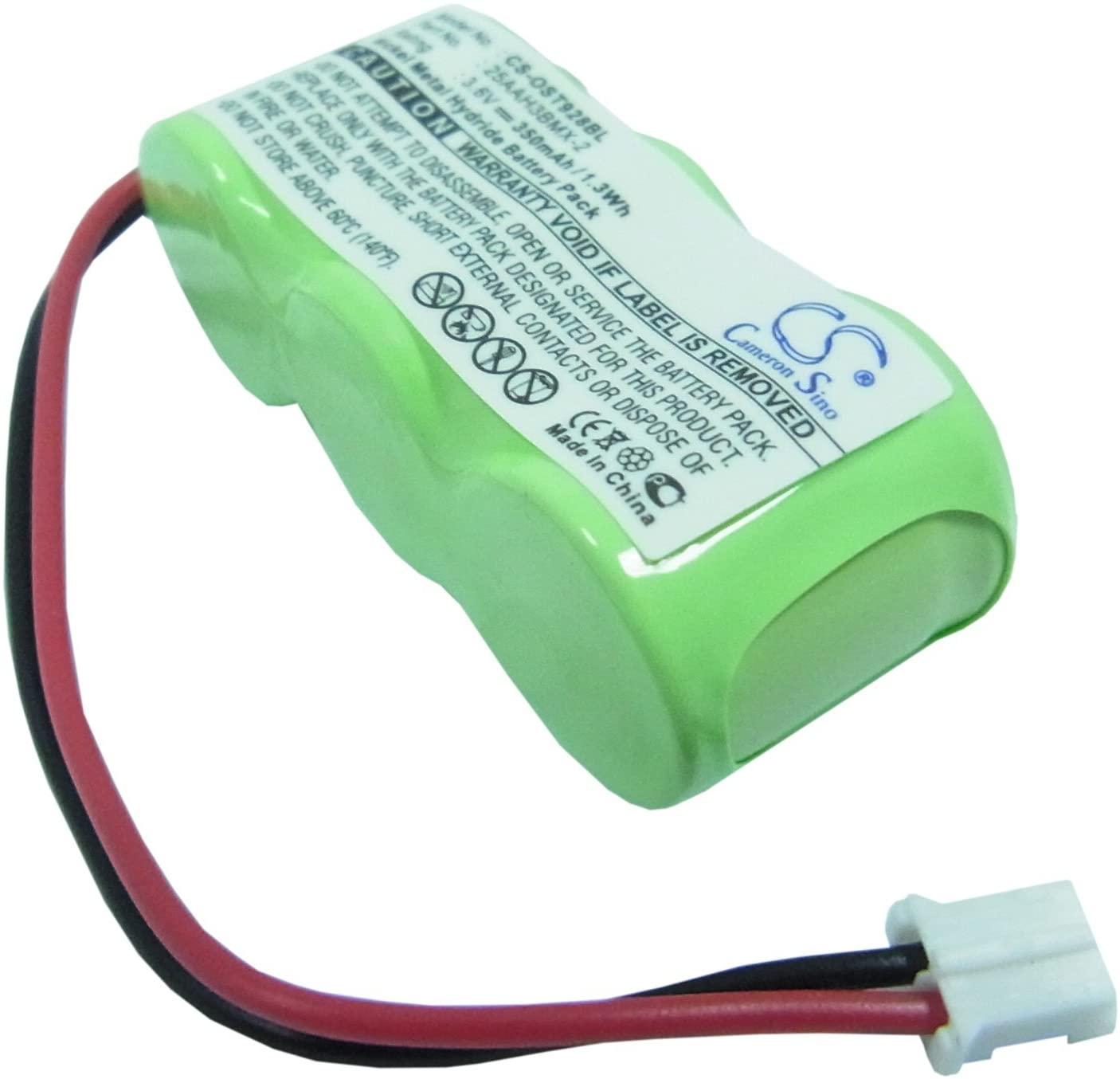 350mAh Battery Replacement for Oregon Scientific STR918, STR928, STR938, STR968, P/N 25AAH3BMX-2, CUSTOM-178