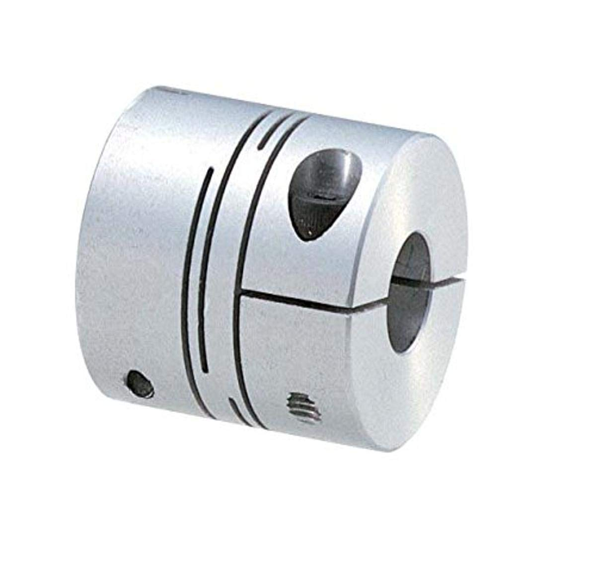 NBK MSXP-36C-15-15 Cleanroom/Vacuum/Heat Resistant Coupling, Slit-Type (PEEK), Clamping Type, Bore Diameters 15 and 15 mm, Polyether Ether Ketone