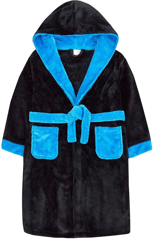 Cargo Bay Boys Flannel Fleece Bath Robe (Ages 7-13yrs) Soft Plush Gown