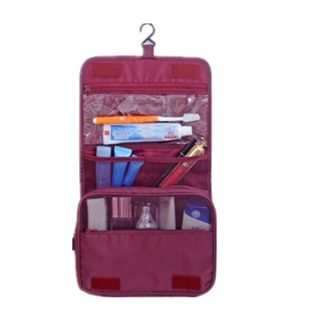 Smartwhiz Waterproof Travel Bag Makeup bag Cosmetic Bag Travel Kit Organizer Bathroom Storage Cosmetic Bag Carry Case Toiletry Bag Multifunctional Pouch Hanging toiletry bag (Red)