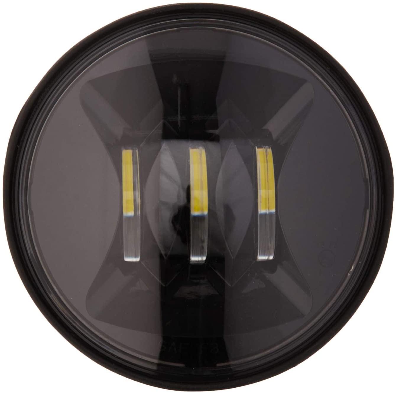 J.W. Speaker 0545731 Model 6045 12V SAE/ECE Right Hand Turn LED Fog Light with Black Inner Bezel