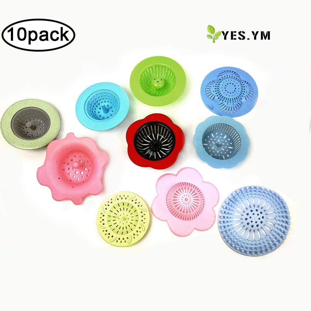 YES.YM 10 Pieces Flow Painting Tools Kits Drawing Sets Sink Flower Strainer Drain Plastic Silicone Drain Basket for Pouring Acrylic Paint and Creating Unique Patterns and Designs