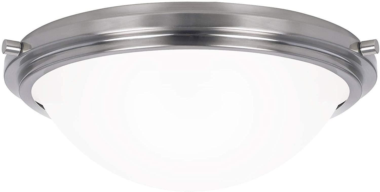 Seagull 75662-962 Three 75662-962-Three Light Ceiling Flush Mount, Brushed Nickel