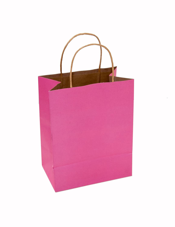Newtech Display PABC-CUB/PNK Paper Shopping Bag, 8