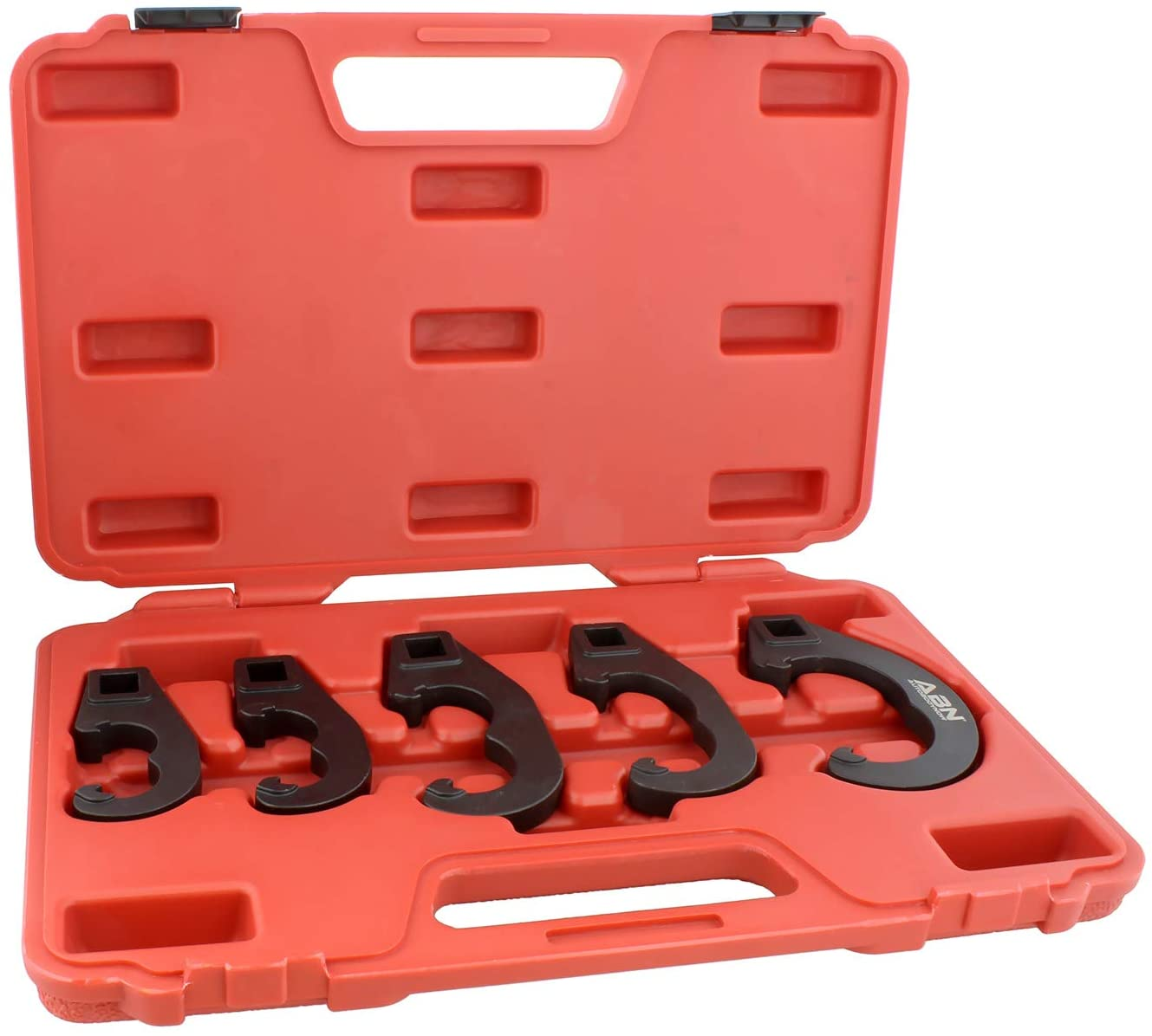 ABN Tie Rod and Pitman Arm Adjusting Tool Set – 5 Pc Tie Rod Adjusting Tool Kit and Heavy Duty Pitman Arm Puller Set
