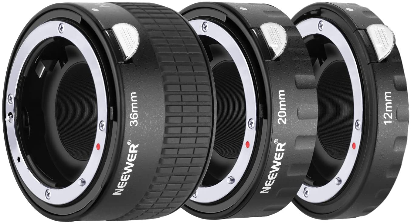 Neewer Metal Auto Focus AF Macro Extension Tube Set 12mm,20mm,36mm for Nikon AF,AF-S Lens DSLR Camera,Such as D7200 D7100 D7000 D5500 D5300 D5200 D5100 D5000 D3300 D3200 D3100 D3000 D700 D600 D500