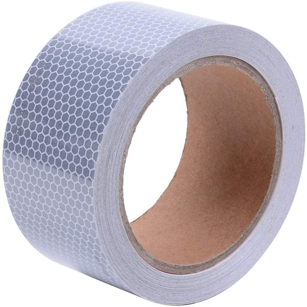 Xcq Reflective Tape Industrial Marking Tape White Safety Warning Stickers - Reflector Tape Waterproof Outdoor 726
