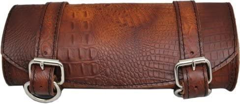 La Rosa Design Universal Front Fork Tool Bag - Antique Brown Alligator