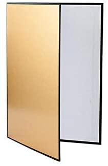 LSUTR Camera Lighting Reflector, 3 in 1 Portable 12 x 8 inch Folding Light Diffuser Board Lighting Reflector Portable Photography Light Reflector for Studio Photo Lighting (Golden)