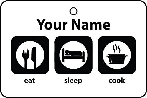Personalized Eat Sleep Cook Car Air Freshener