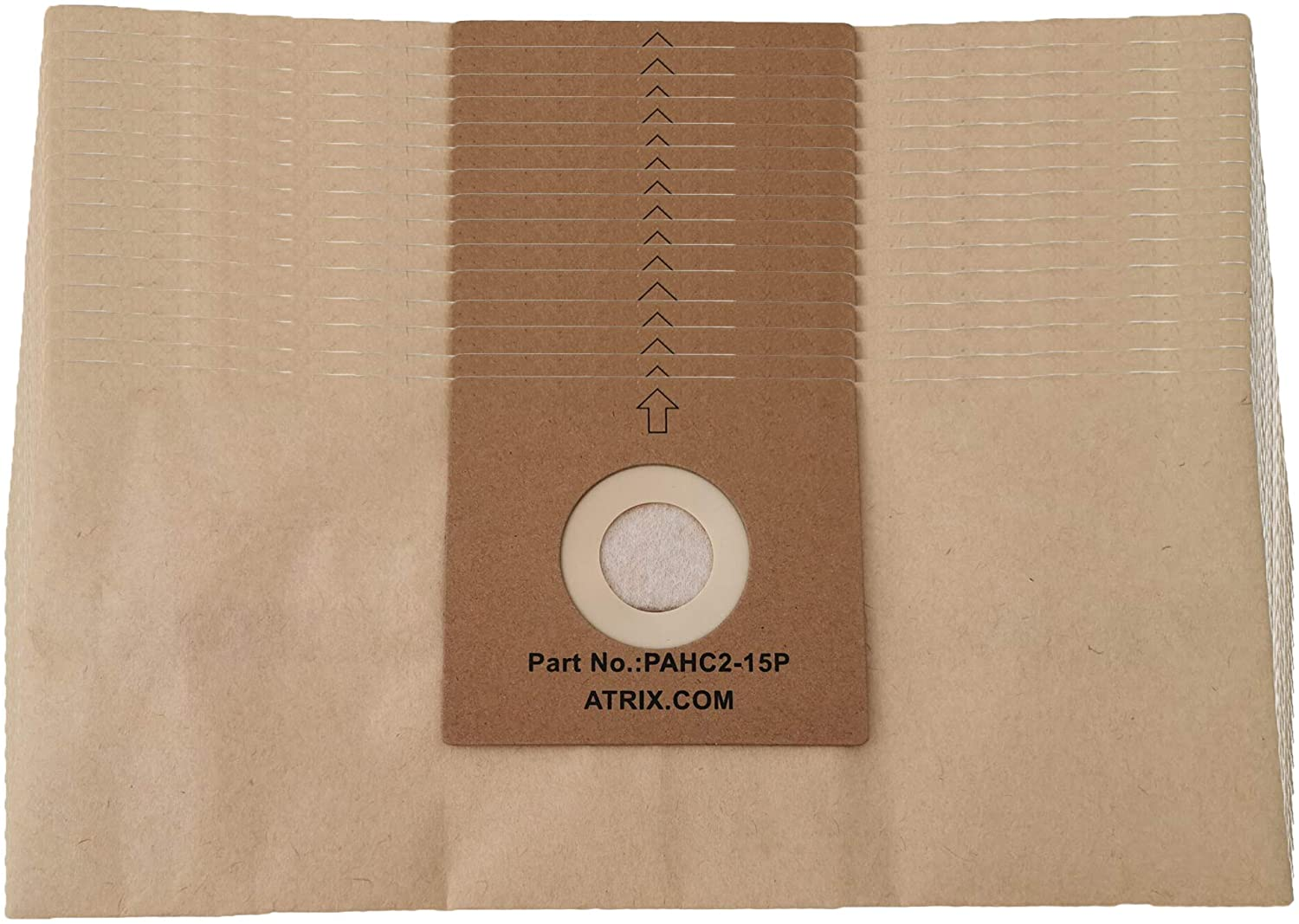 Atrix PAHC2-15P Vacuum Filter, Brown, 15 Count